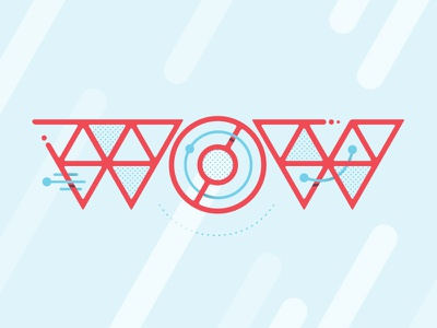 Wow wow shapes vector lettering