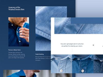 Denim Shirts menswear ecommerce ecomm shop shirt blue denim
