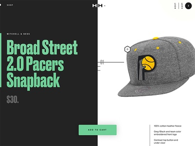 Product Page 002 web ecomm hat pdp product cart shop website