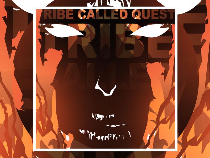 A Tribe Called Quest Poster digital art digitalart digital chill vector design vector artwork vectorart vector illustration design
