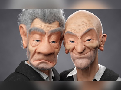 Best Buds sculpting sculpture sculpt stylized stylised caricature blender 3d 3dblender blender3d 3d b3d blender