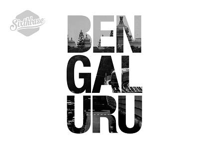 SixthBase: Bengaluru bangalore bengaluru words typo typograpy place product hexagon city sixthbase sixthbasestore