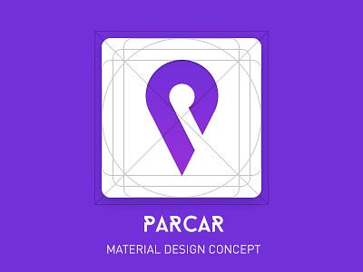 Parcar app icon concept mobile ios app android ui material design app icon icon app