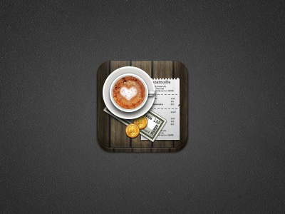Coffee Bill coffee money coins notes wood dezinr foam