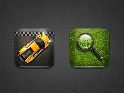 Dezinr Car Magnify lamborghini car zoom race lens grass road icon