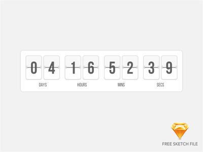 Flip Timer flip time free sketch file sketch file counter countdown timer flip clock