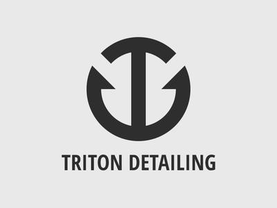 Triton Detailing illustration td d t branding detailing triton logo