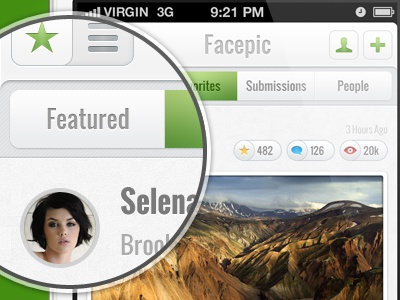 Face Pic green white cleab rounded ios iphone rating clean