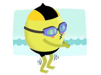 Swimmin' lemon