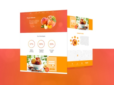 Peach landing page peach delivery peach