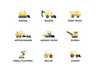 Compaction Equipment Icons