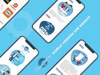 Website for Laundry mobile version