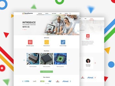 Corporate website for IT company sense systems interface design ux ui corporate website website for it company corporate
