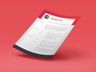 CV Dan cv curriculum vitae red gradient design designer ui ux