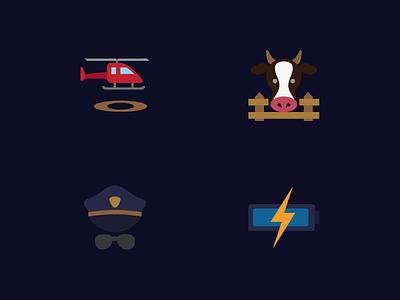 Signage pictograms ndc2014 pictogram signage flat color set icons icon