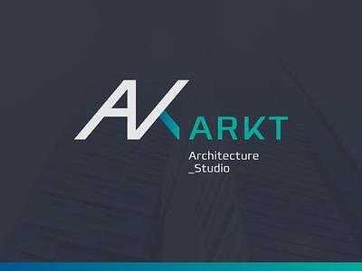 ARKT Logo  ndc2014 logo blue arch architect architecture concept gradient