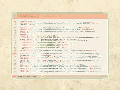 bubble-qumm  retro pastel console text editor color 3dcc command code ndc2014