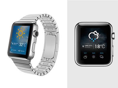 Weather app |  WATCH apple watch app weather icons mockup ui ux ndc2014