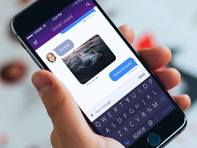 Mnml Keyboard minimal keyboard iphone app chat clean ios8 ndc2014