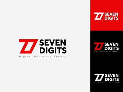7digits wordmark branding design identity branding logomark logos modern logo minimalist logo logoconcept logo design logotype digital marketing agency digital marketing services