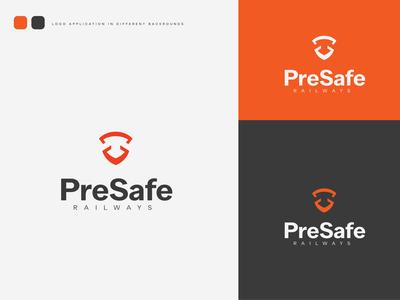 PreSafe Logo branding designer designer logo design branding concept mark icon design train security safe logomark logotype logo identity design brand branding identity branding