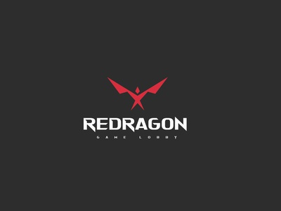 REDRAGON LOGO GAMING brand identity identitydesign illustration art sketch fire dragonfly mark game logo icon branding brand design gaming logo