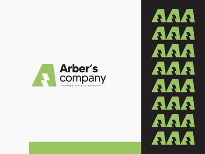 Arber's company eco logo website designer brand identity branding logo mark energy green logo ecology identity icon icon design design branding app