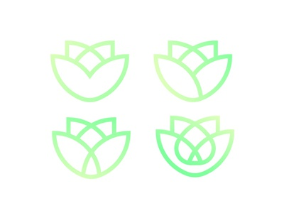 Flower Logo Concept green colorful design branding and identity branding concept logo a day flower
