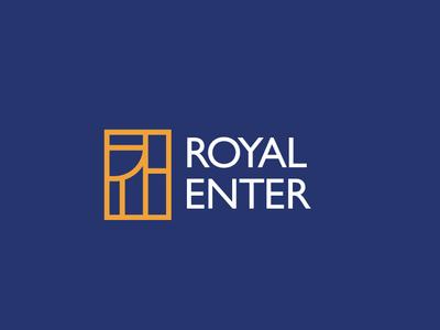 Royal Enter Logo royal trend 2019 branding and identity branding concept concept design logo design logotype