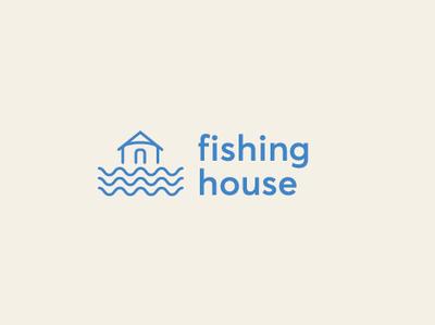 fishing house logo minimalistic minimalist logo brand design brand identity logo design logotype logos