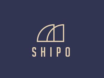 Shipo Logo minimalist logo shipping logo mark logo design logotype branding and identity branding concept brand identity brand design