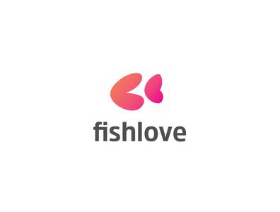 fishlove logo graphic design brandingdesigner logoawesome logoaday creative design uidesign illustrations heart logo love fish logo logoai logos logo design logotype branding design brand identity branding