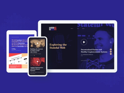 Web3FM - Website video player landing page web design podcast web 3.0 blockchain