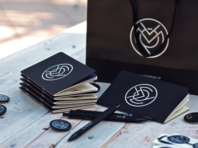 MVP Workshop swag branding notebook swag print development agency mvp graphic design blockchain