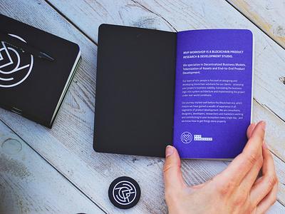 MVP Workshop swag - Notebook agency print graphic design badge notebook swag mvp studio blockchain