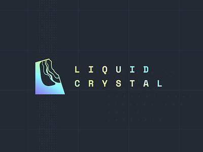 Liquid Crystal - Logo development crystal liquid branding logo blockchain