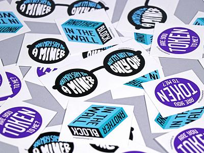 MVP Workshop swag - Stickers swag graphic design workshop mvp print stickers branding agency development blockchain