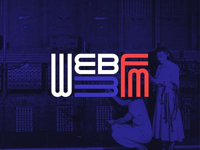 Web3FM - Logo logo podcast fm exploring web 3.0 branding blockchain