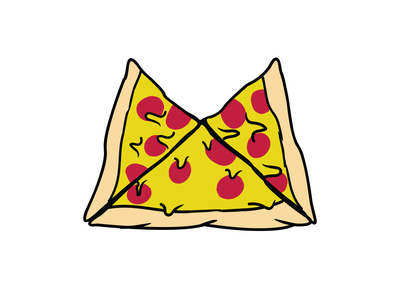 """The infamous """"Pizza Pin"""" swag enamelpin"""