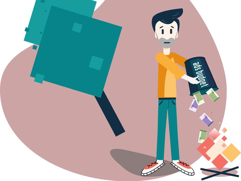 Man spending money web vector illustration flat design adobe illustrator