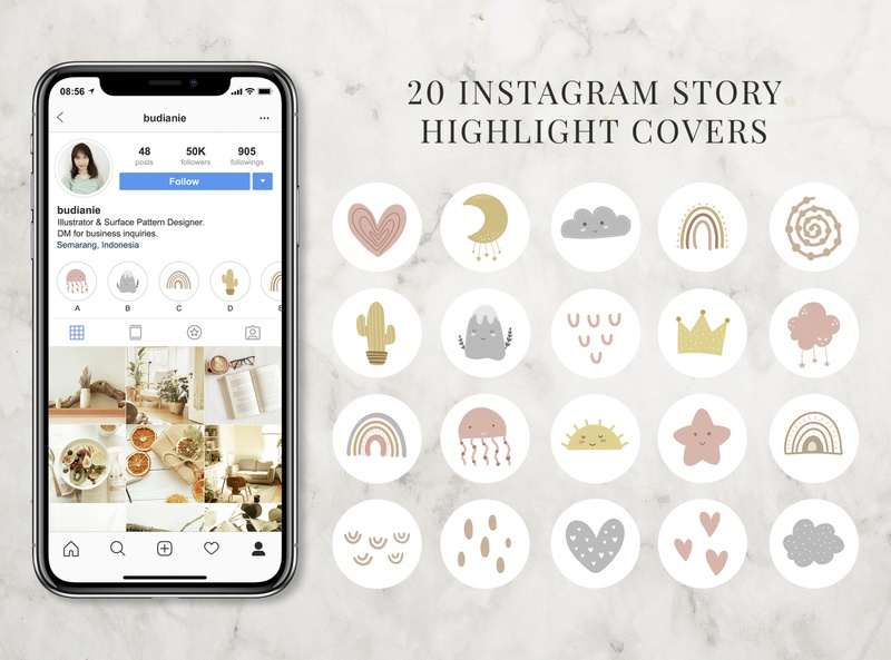 20 Instagram Highlight Covers for Kids design instagram template instagram stories instagram illustration icon highlights cover