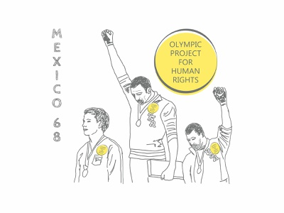 Olympic Project For Human Rights illustration visual communication mexico 68 visibility solidarity high fist black panther sport racism human rights olympic project for human rights olympic games olympic
