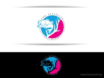 After Life Logo deer fish sketch logo illustrator illustration design brand art