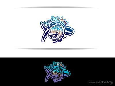 Lazy Bass Lures Logo-1 fish sketch logo illustrator illustration design brand art