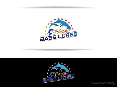 Lazy Bass Lures Logo-2 fish sketch logo illustrator illustration design brand art