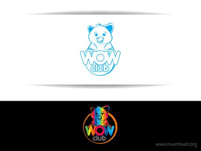 Wow Club Logo sketch logo illustrator illustration design brand art