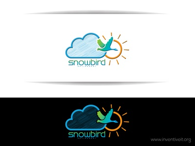 Snow Bird Logo-2 bird sketch logo illustrator illustration design brand art