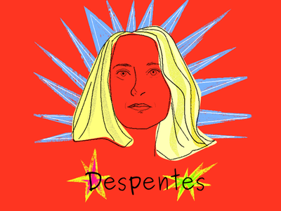 Queen Despentes drawing krita designer lucha libre design feminism illustration