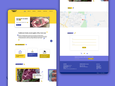 Wholesale Meat ui designer ui kit food supplier map shop meat food adobe xd adobexd ui design ux  ui design ui graphic design