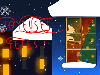 Happy holidays krita snow merry christmas holidays graphic design illustration christmas